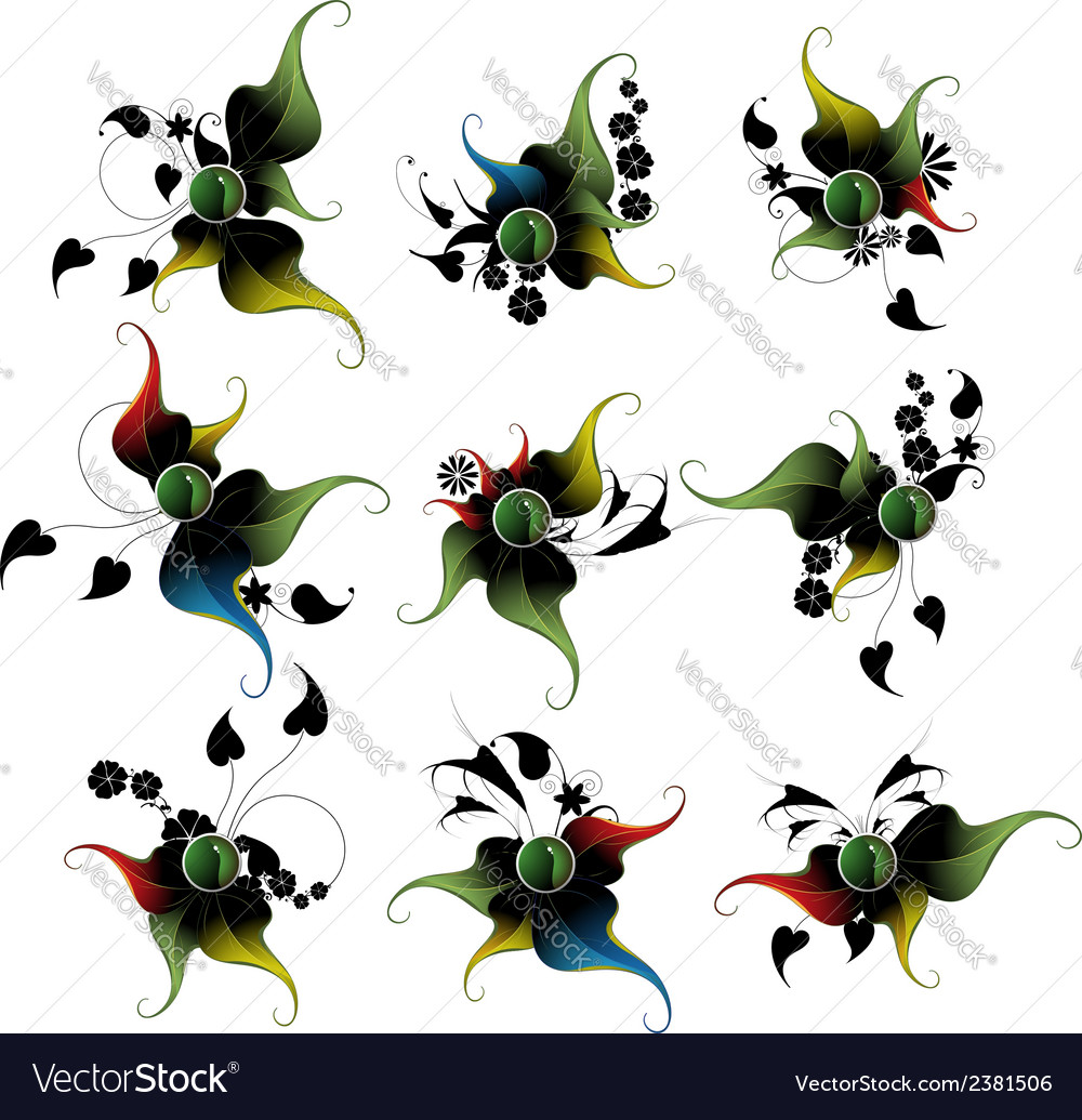 Fairy vegetative icons vector   Price: 1 Credit (USD $1)