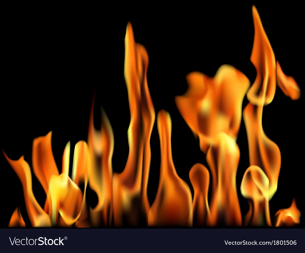 Fire flame banner vector | Price: 1 Credit (USD $1)