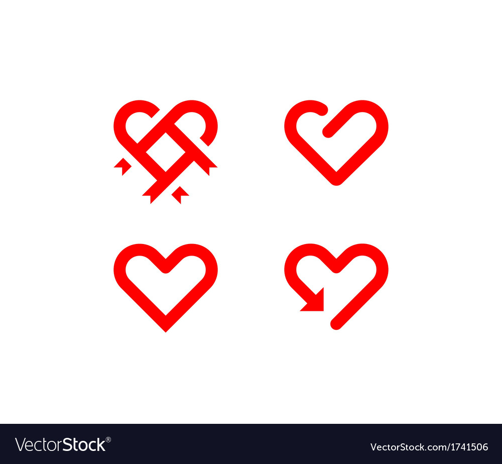 Heart line symbol vector | Price: 1 Credit (USD $1)