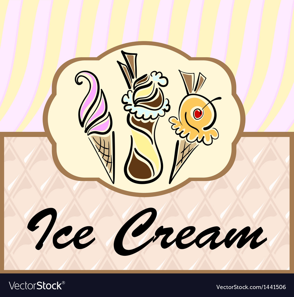 Text frame with abstract ice cream symbols vector | Price: 1 Credit (USD $1)