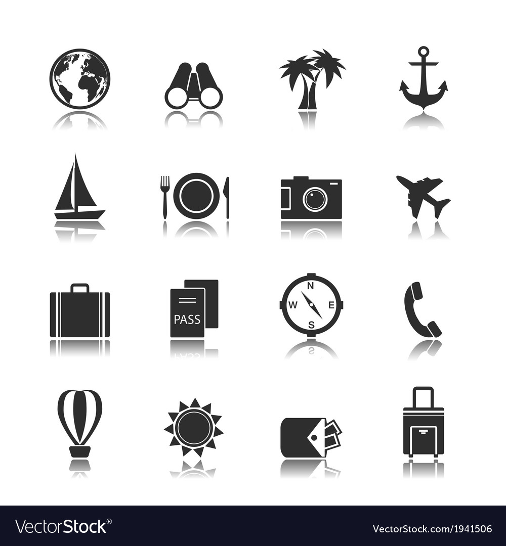 Tourism travel interface elements vector | Price: 1 Credit (USD $1)