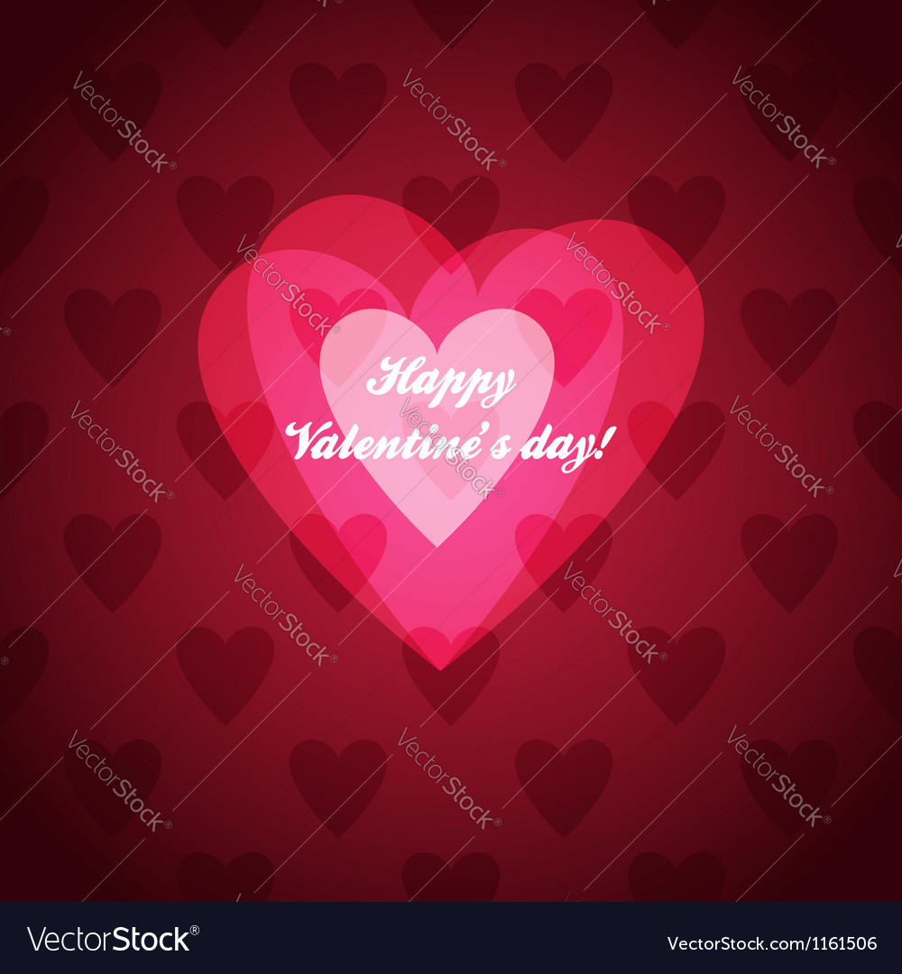 Valentine card vector | Price: 1 Credit (USD $1)