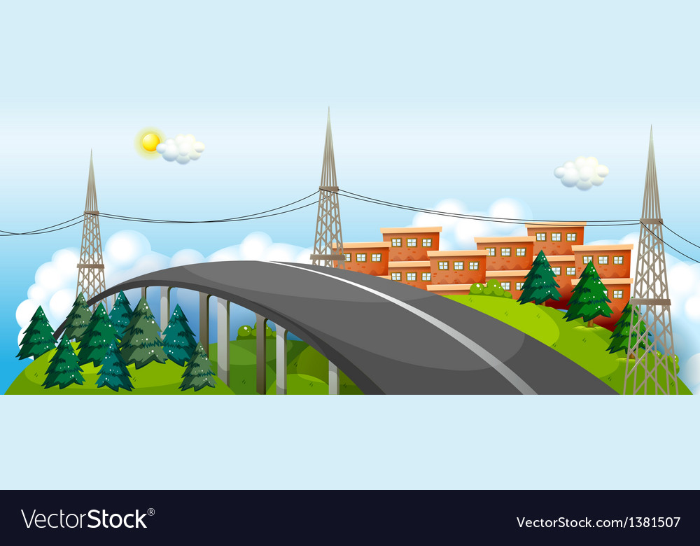 A curve road in the city vector   Price: 1 Credit (USD $1)