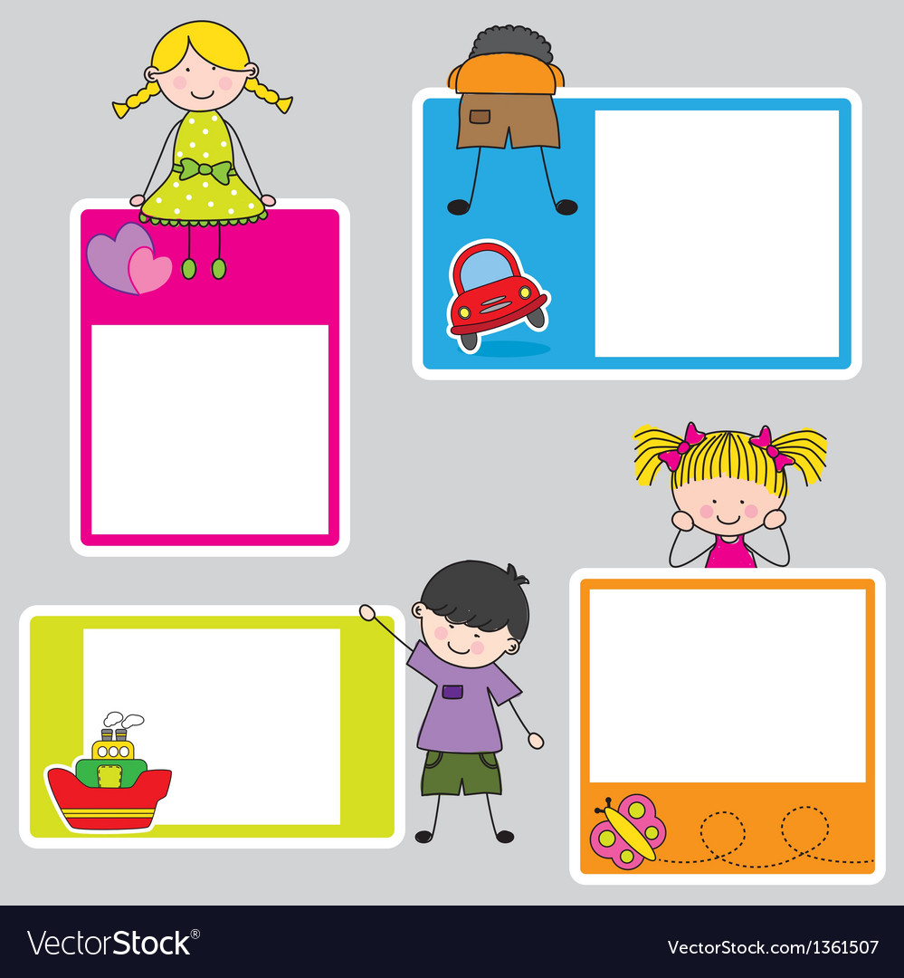 Children picture frame for girl and boy vector | Price: 3 Credit (USD $3)