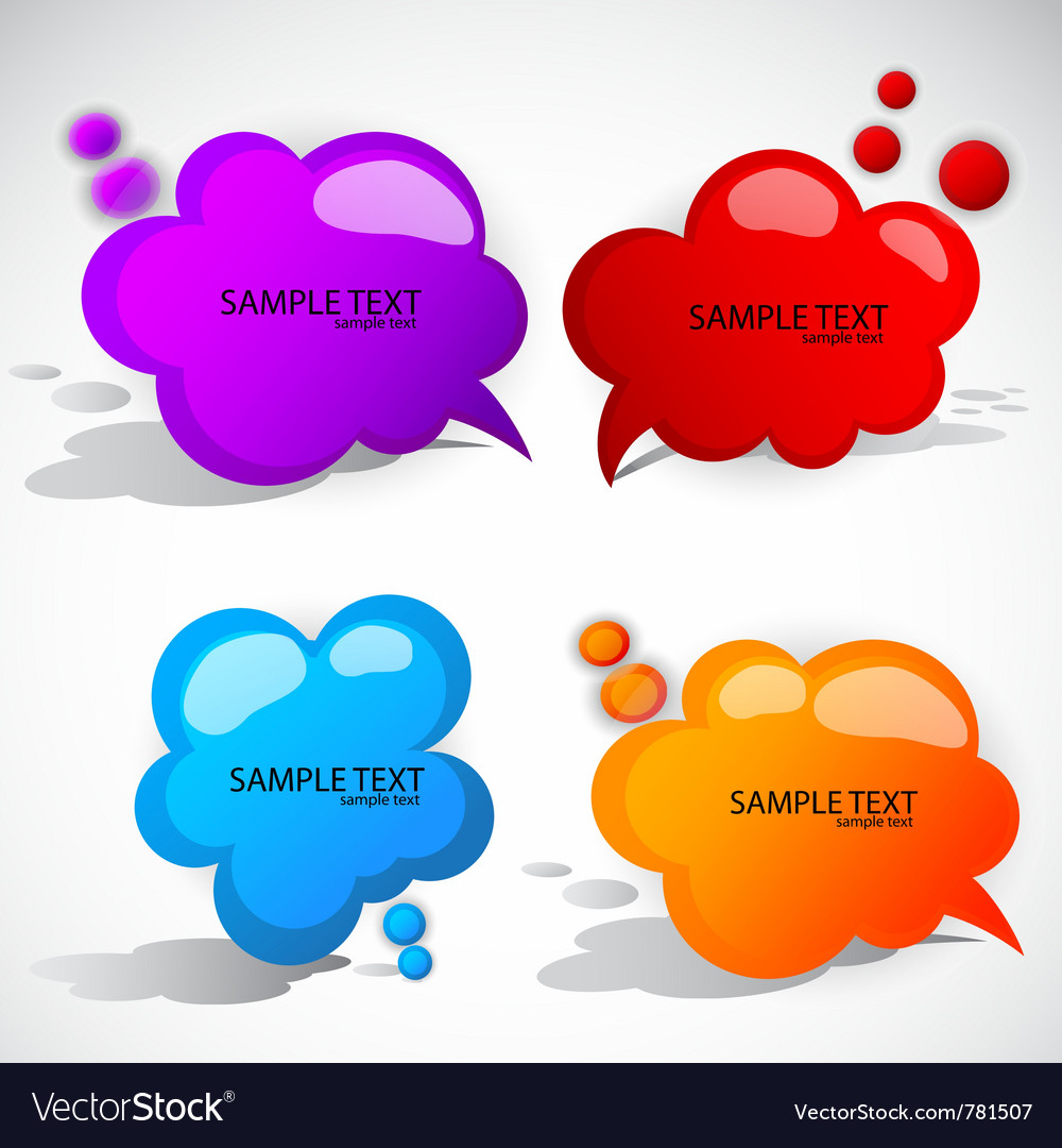 Colorful cloud bubble for speech vector | Price: 1 Credit (USD $1)