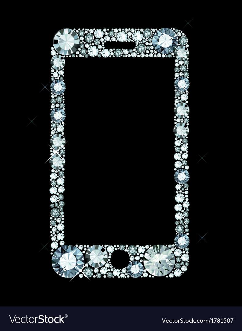 Diamond smartphone vector | Price: 1 Credit (USD $1)