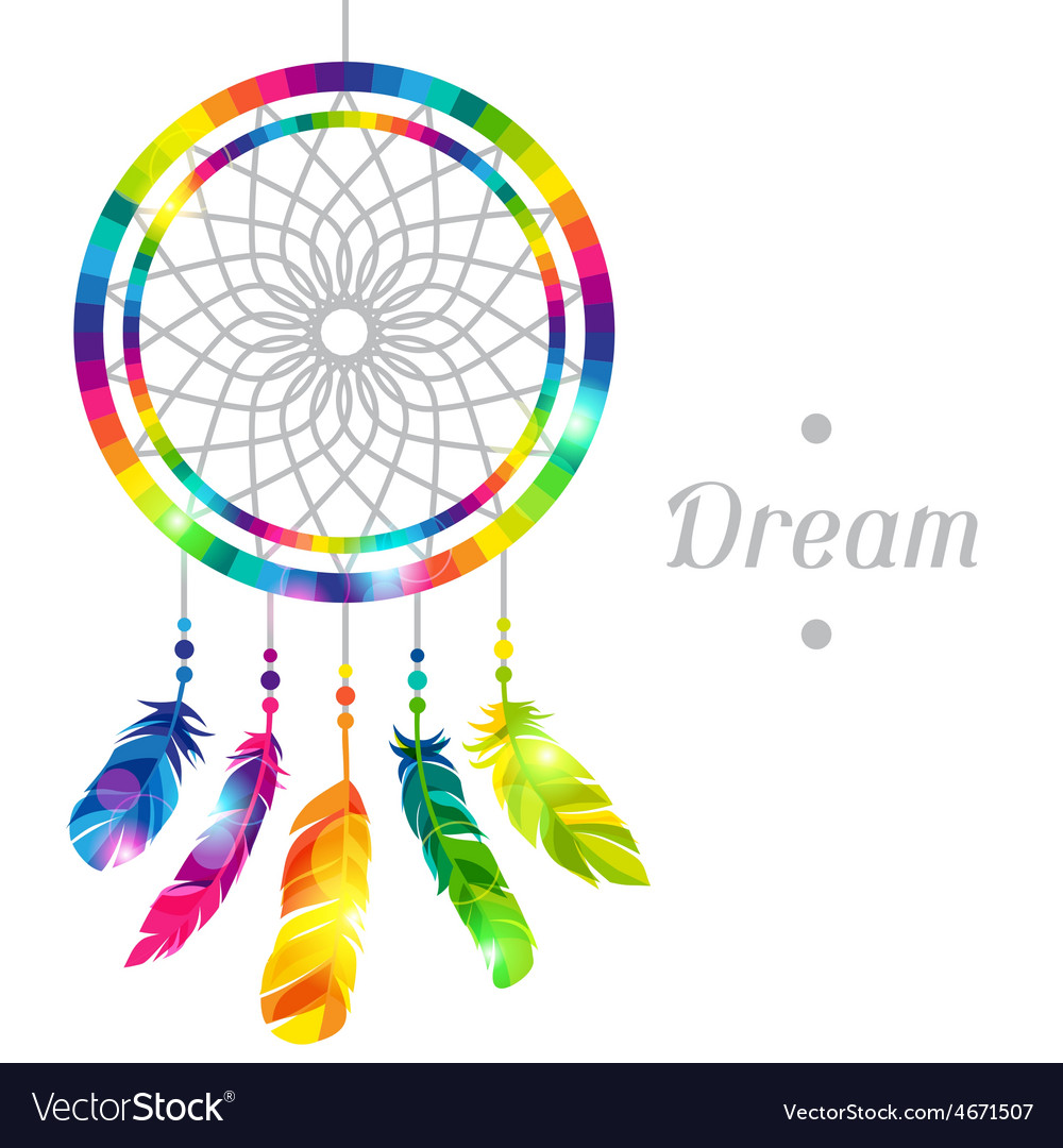 Dream catcher with abstract bright transparent vector | Price: 1 Credit (USD $1)