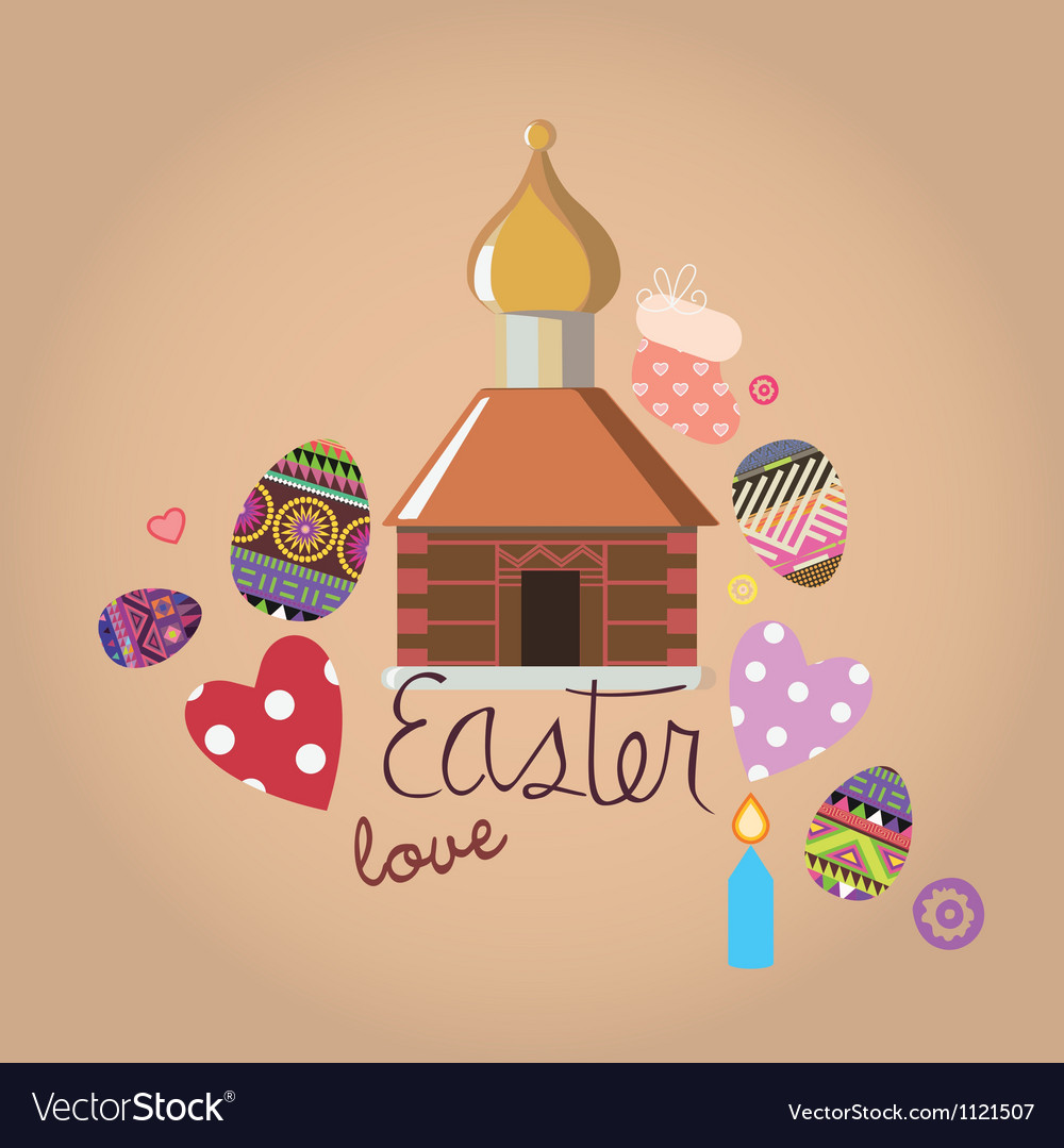 Easter with a set of design elements vector | Price: 1 Credit (USD $1)