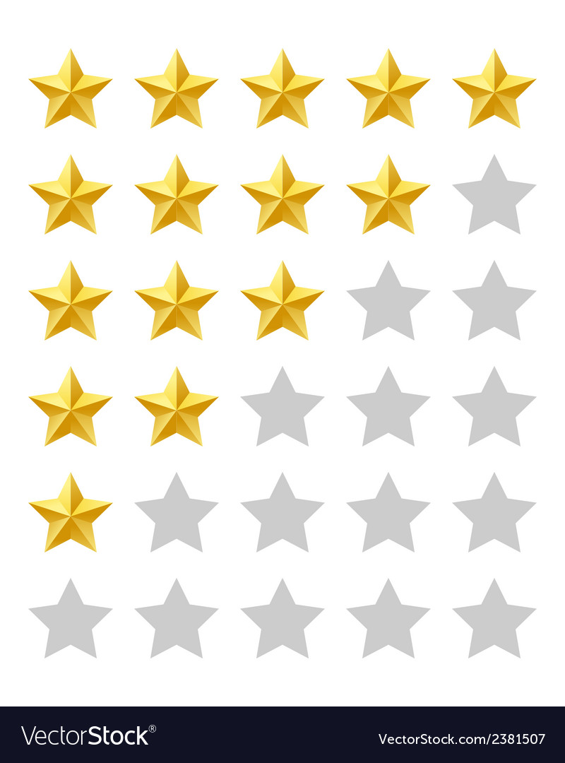Five stars rating vector | Price: 1 Credit (USD $1)