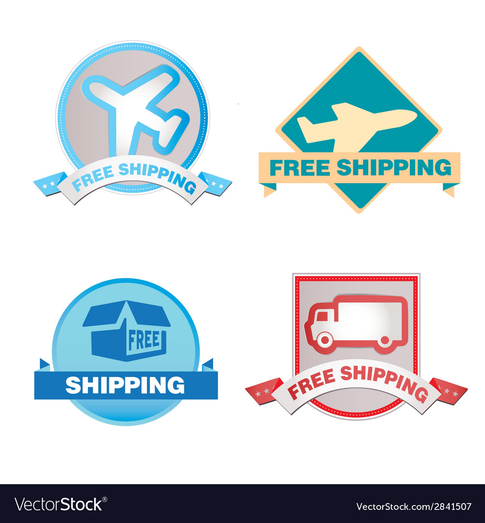 Free shipping labels vector | Price: 1 Credit (USD $1)