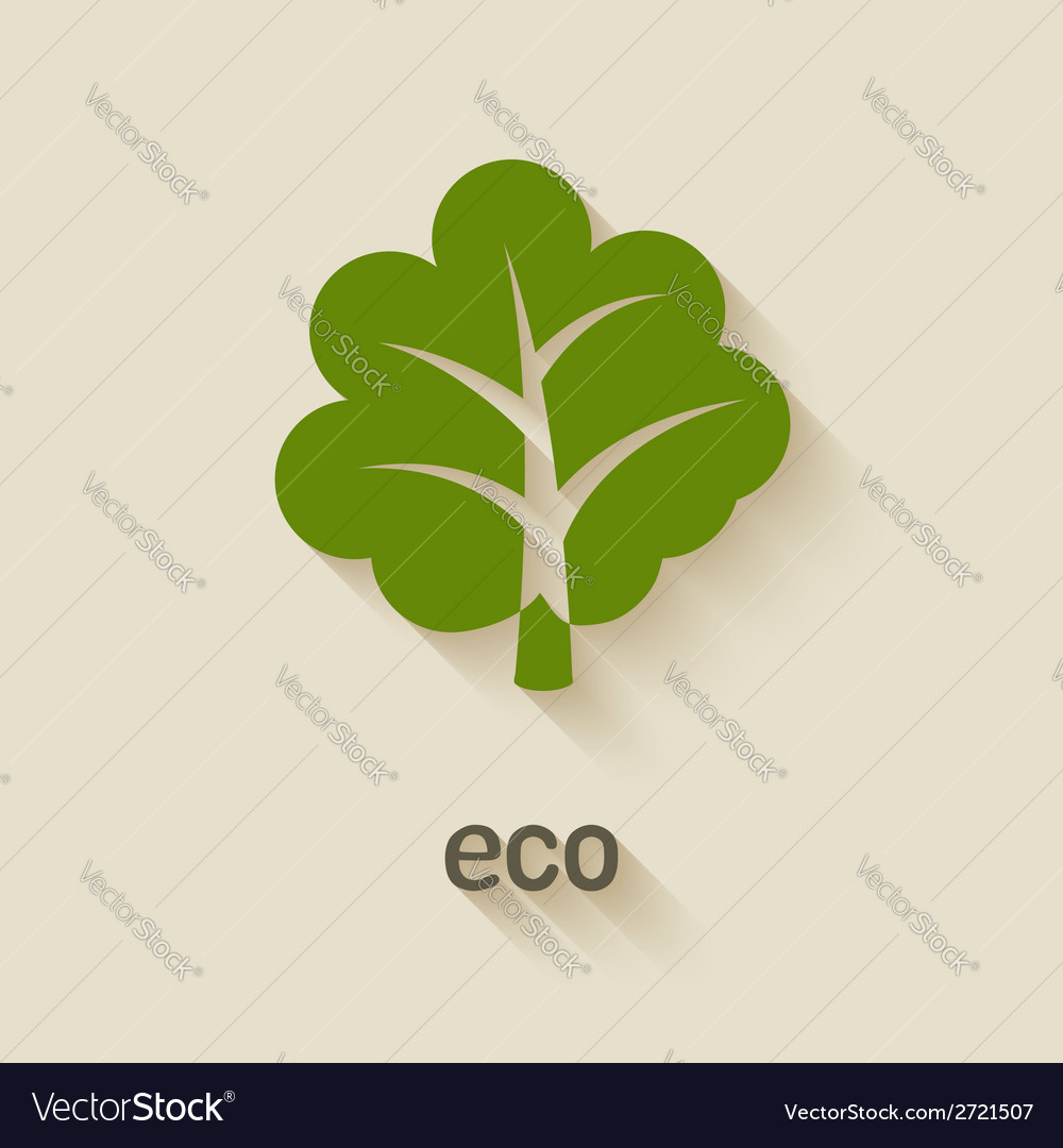 Green tree eco symbol vector | Price: 1 Credit (USD $1)