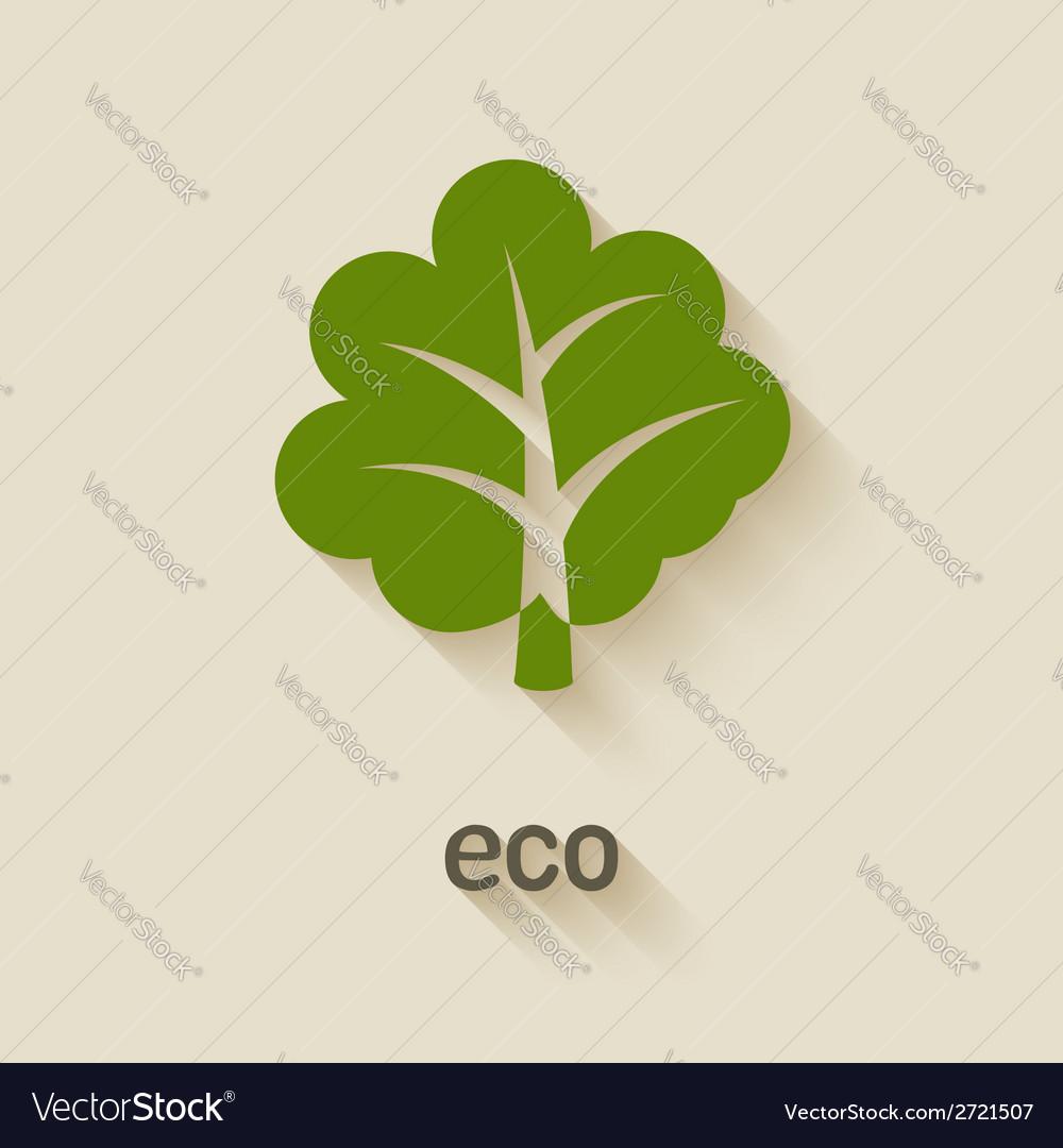 Green tree eco symbol vector | Price: 1 Credit (USD $1)
