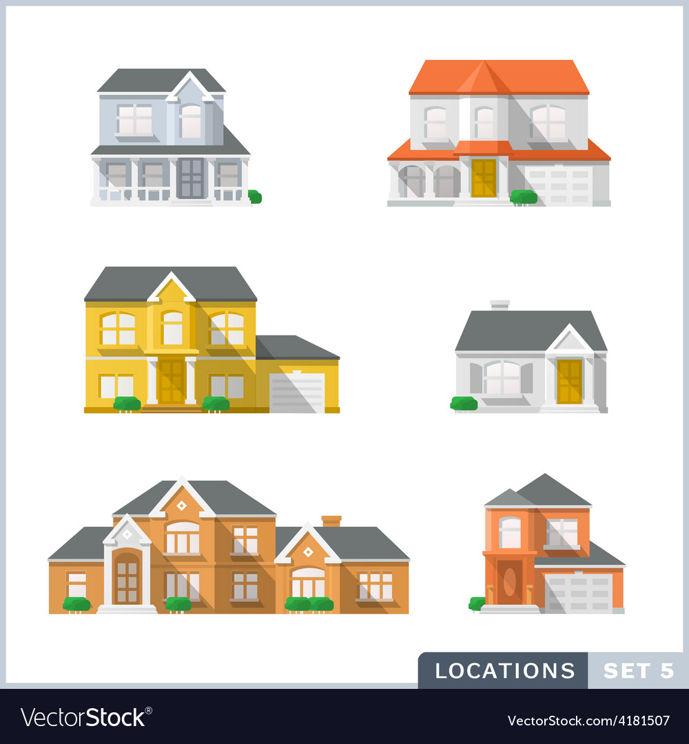 House icon set 1 vector | Price: 1 Credit (USD $1)
