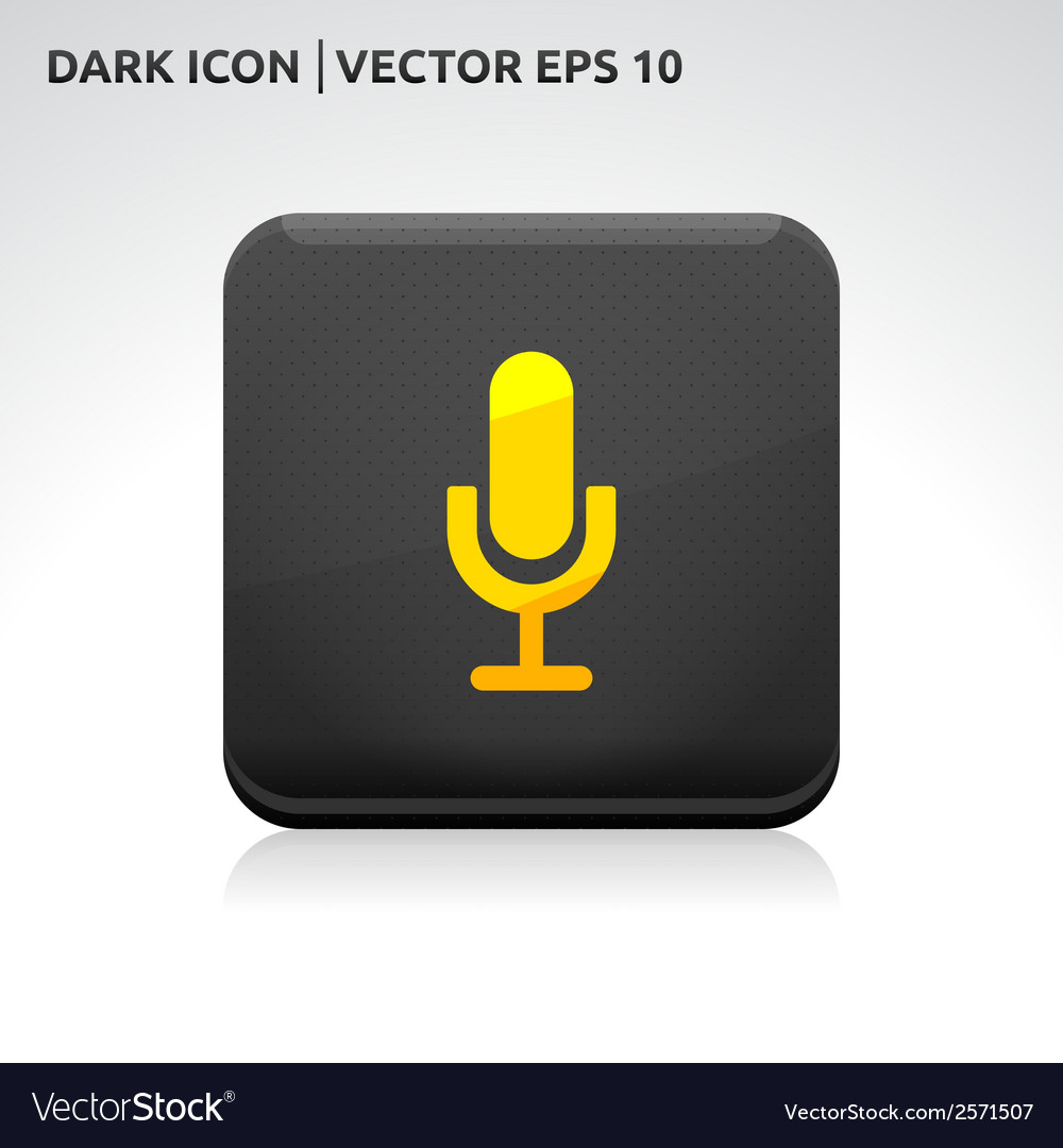 Microphone icon gold vector | Price: 1 Credit (USD $1)