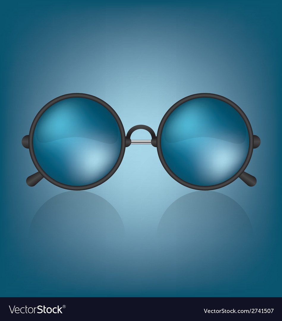 Retro blue sunglasses vector | Price: 1 Credit (USD $1)