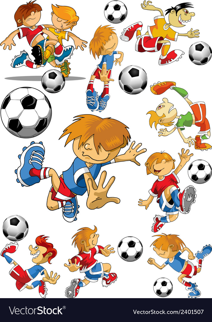 Soccer player cartoon vector | Price: 1 Credit (USD $1)