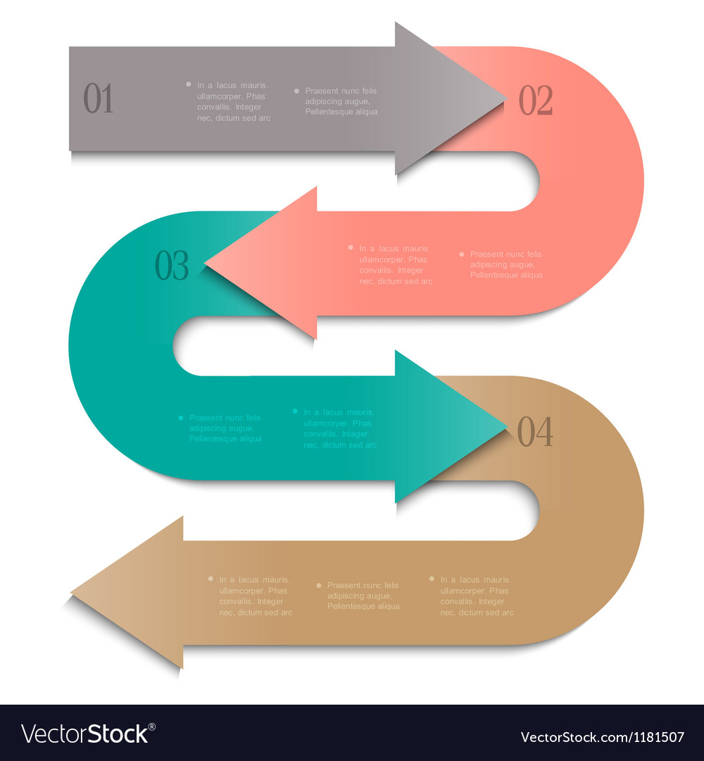 Trendy banner arrow design for infographics vector | Price: 1 Credit (USD $1)