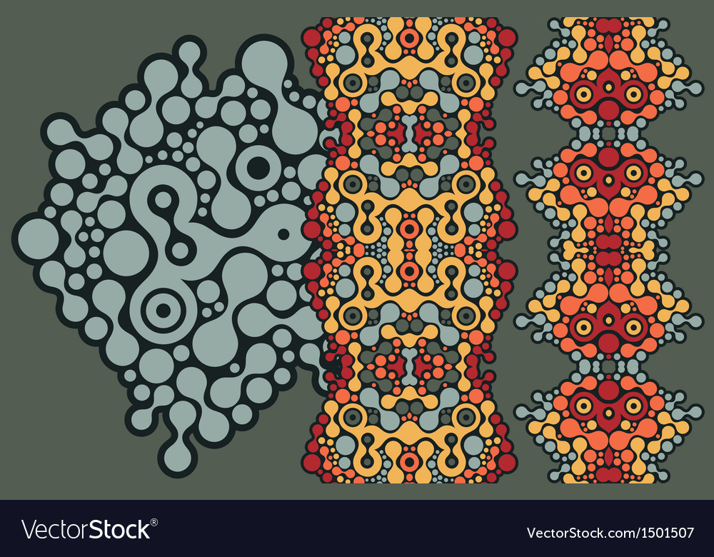 Two vertical seamless patterns vector | Price: 1 Credit (USD $1)