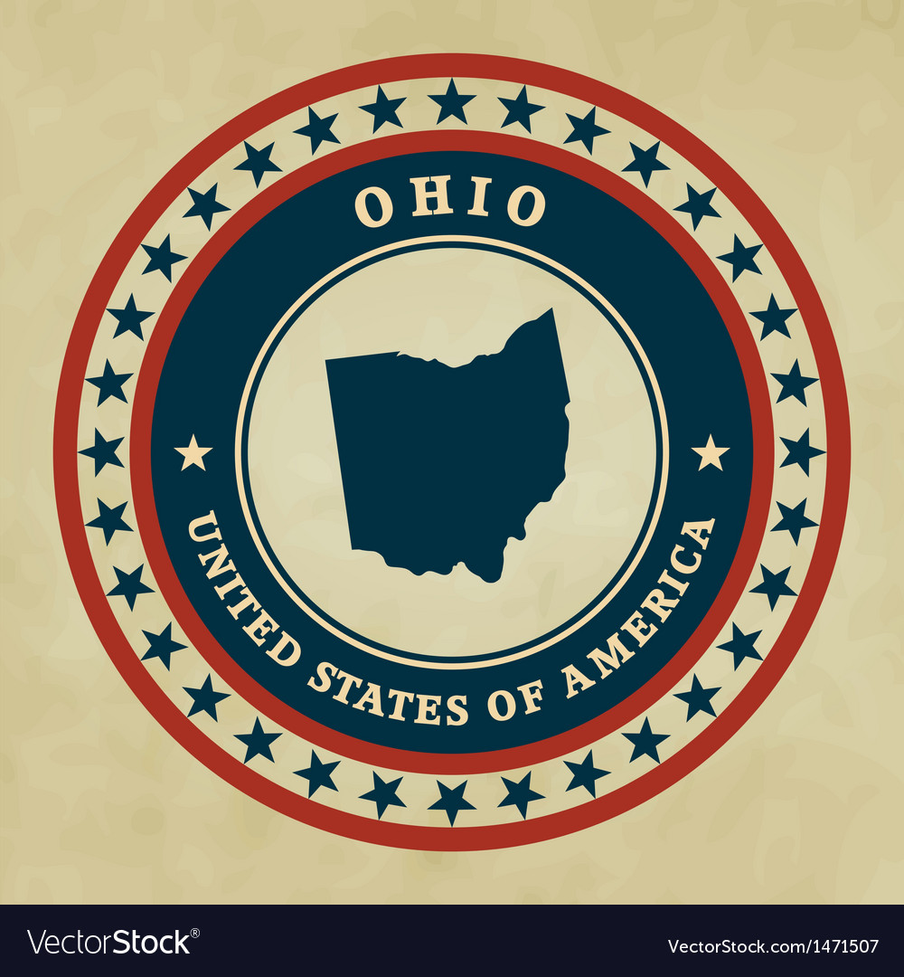 Vintage label ohio vector | Price: 1 Credit (USD $1)