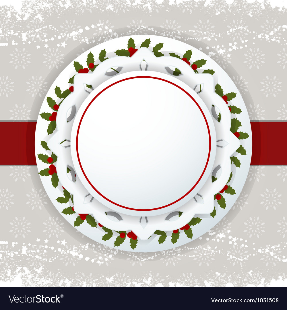 Christmas background label and ribbon vector | Price: 1 Credit (USD $1)