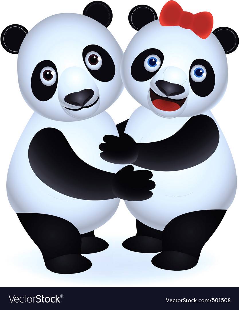 Couple panda vector | Price: 1 Credit (USD $1)