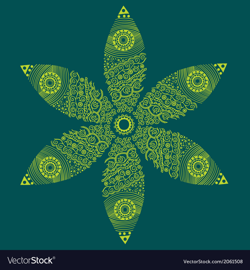 Floral ornament decoration vector | Price: 1 Credit (USD $1)
