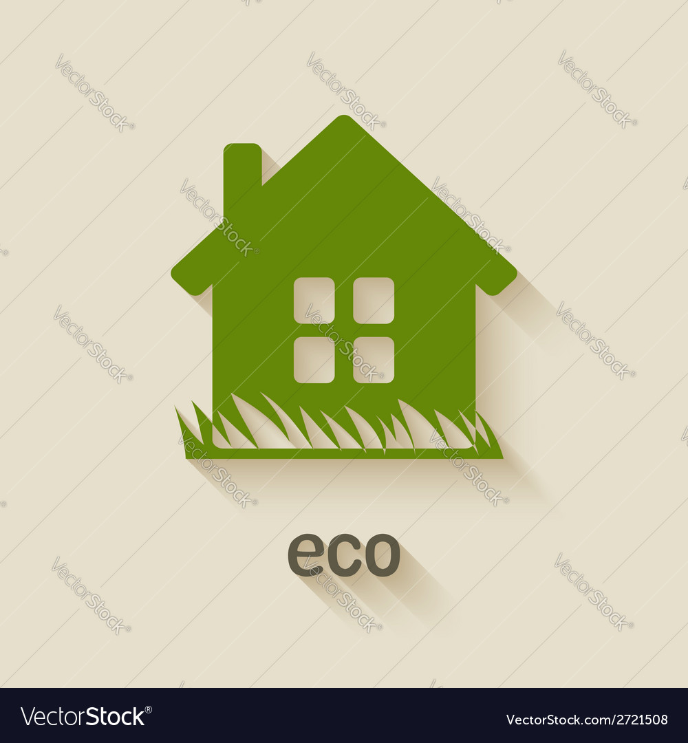 Green house eco symbol vector | Price: 1 Credit (USD $1)