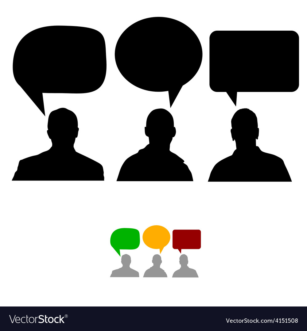 Group of people with speech bubbles vector | Price: 1 Credit (USD $1)