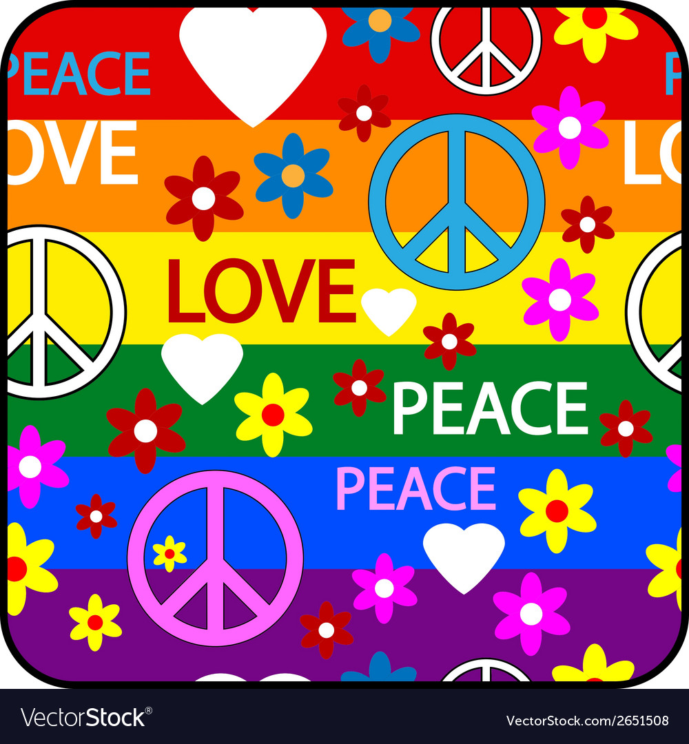 Hippie button vector | Price: 1 Credit (USD $1)