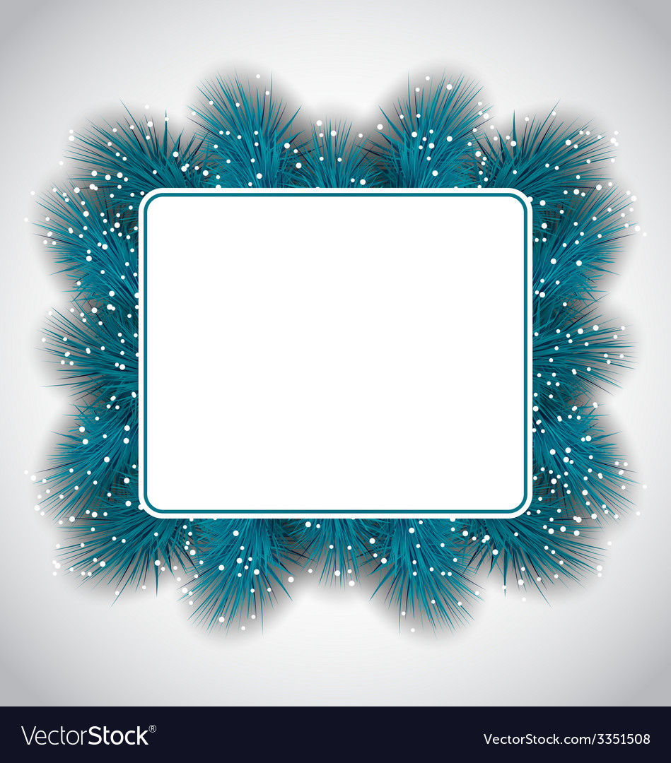 New year elegant card with fir branches copy space vector | Price: 1 Credit (USD $1)