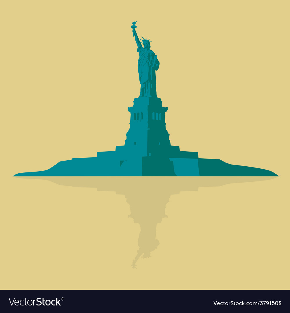 New york the statue of liberty on a light vector | Price: 1 Credit (USD $1)