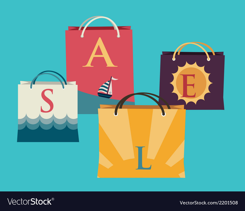 Shopping bags with the word sale on them and vector | Price: 1 Credit (USD $1)