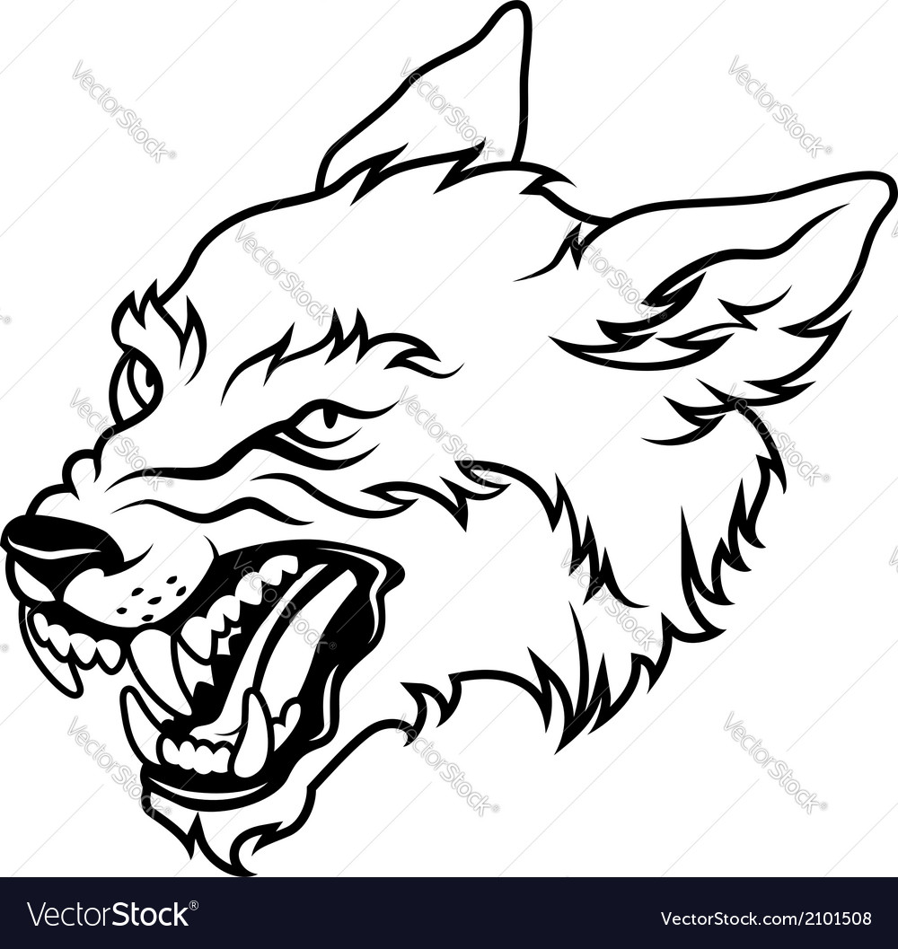 Werewolf black vector | Price: 1 Credit (USD $1)