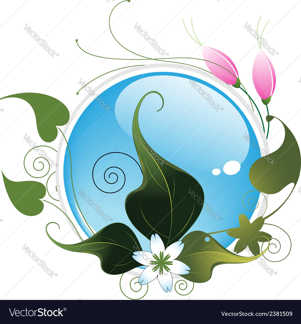 Abstract flowers and leaves vector   Price: 1 Credit (USD $1)
