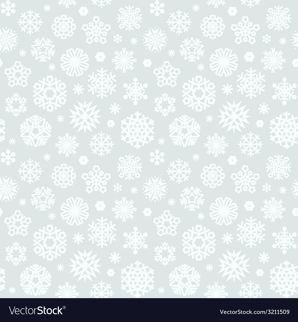 Christmas seamless pattern with snowflakes light vector | Price: 1 Credit (USD $1)