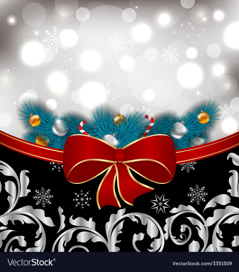 Christmas traditional background with decoration - vector | Price: 3 Credit (USD $3)