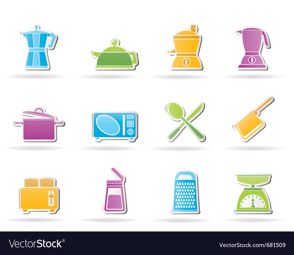Kitchen and household equipment icon vector   Price: 1 Credit (USD $1)