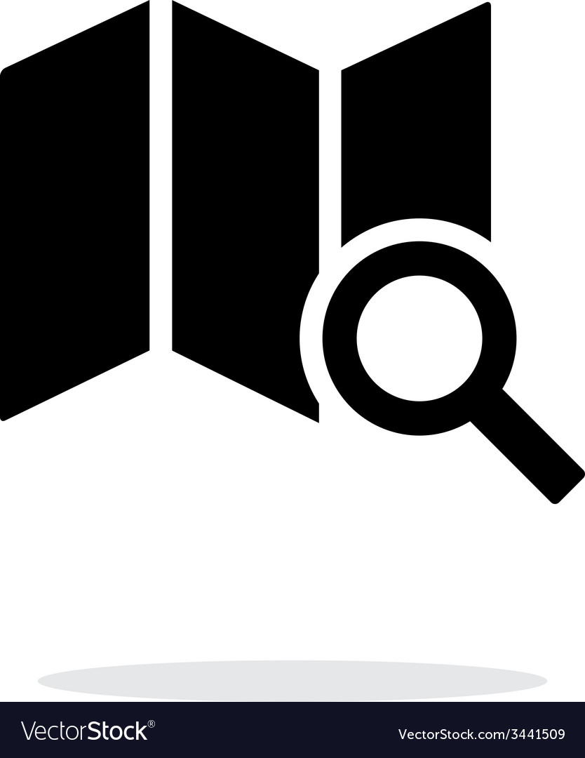 Map search icon on white background vector | Price: 1 Credit (USD $1)