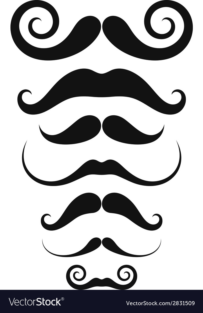 Mustache icon set vector | Price: 1 Credit (USD $1)