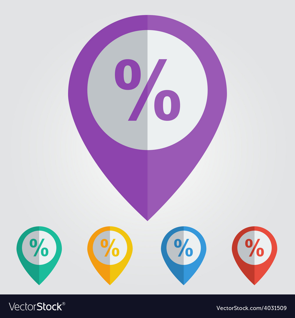 Percent flat vector | Price: 1 Credit (USD $1)