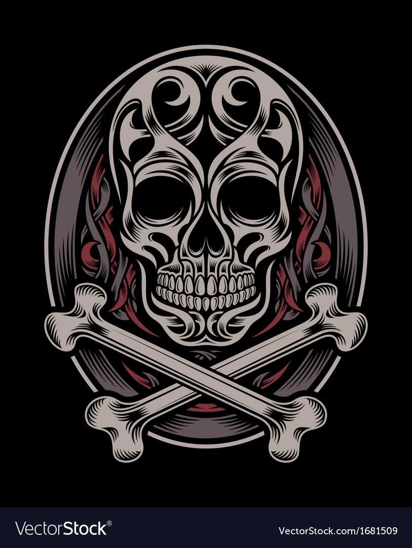 Skull and crossbones vector   Price: 1 Credit (USD $1)