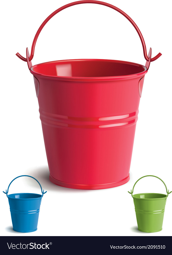 Bucket set vector | Price: 1 Credit (USD $1)