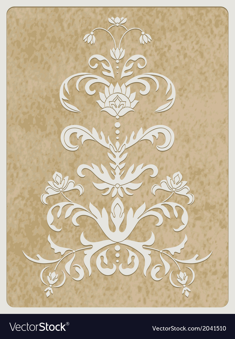Card white paper cut flower vector | Price: 1 Credit (USD $1)