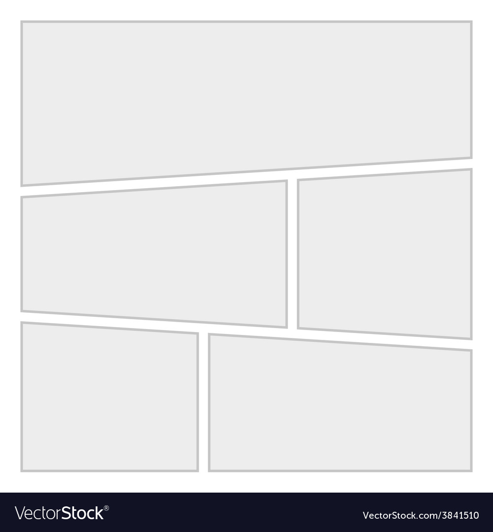 Comics blank layout template background vector | Price: 1 Credit (USD $1)