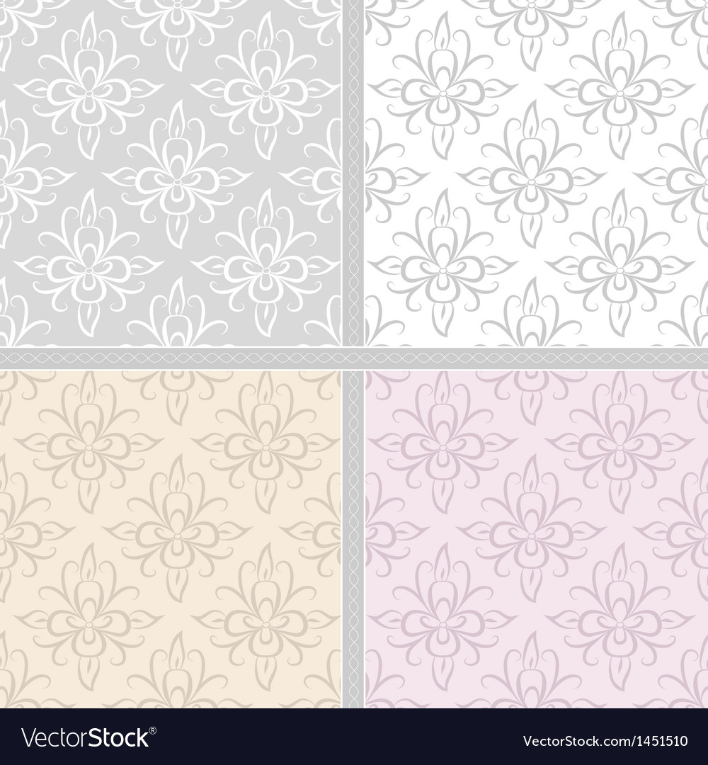 Damask ethnic seamless textile pattern vector | Price: 1 Credit (USD $1)