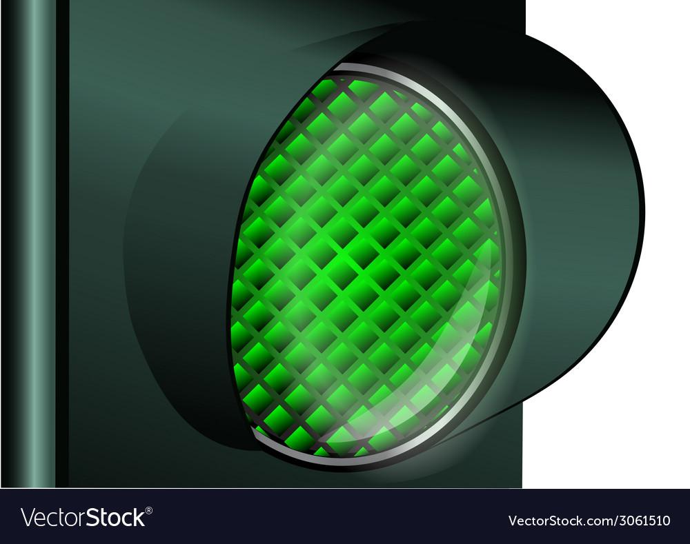 Green traffic light vector | Price: 1 Credit (USD $1)