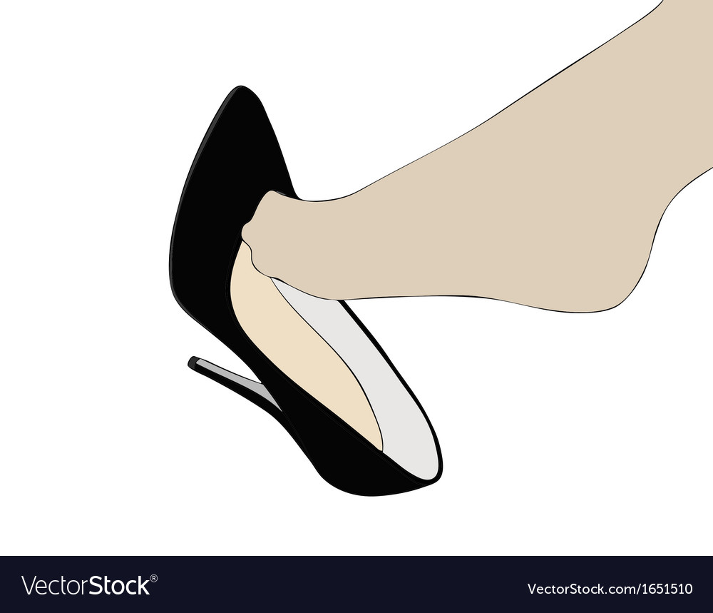 High heels and foot vector | Price: 1 Credit (USD $1)