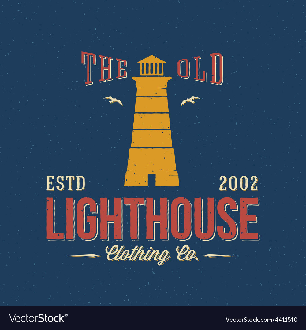 The old lighthouse clothing co nautical abstract vector | Price: 1 Credit (USD $1)