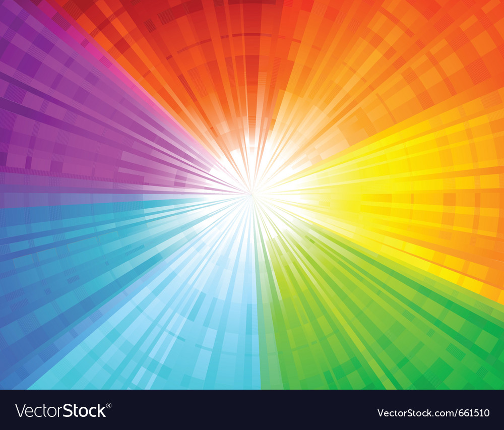Rainbow sunbeam background vector | Price: 1 Credit (USD $1)