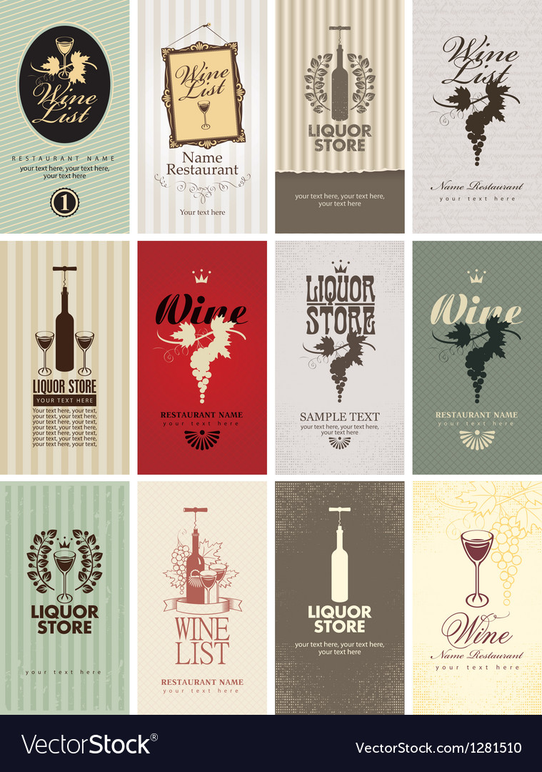 Set of wine vector | Price: 1 Credit (USD $1)